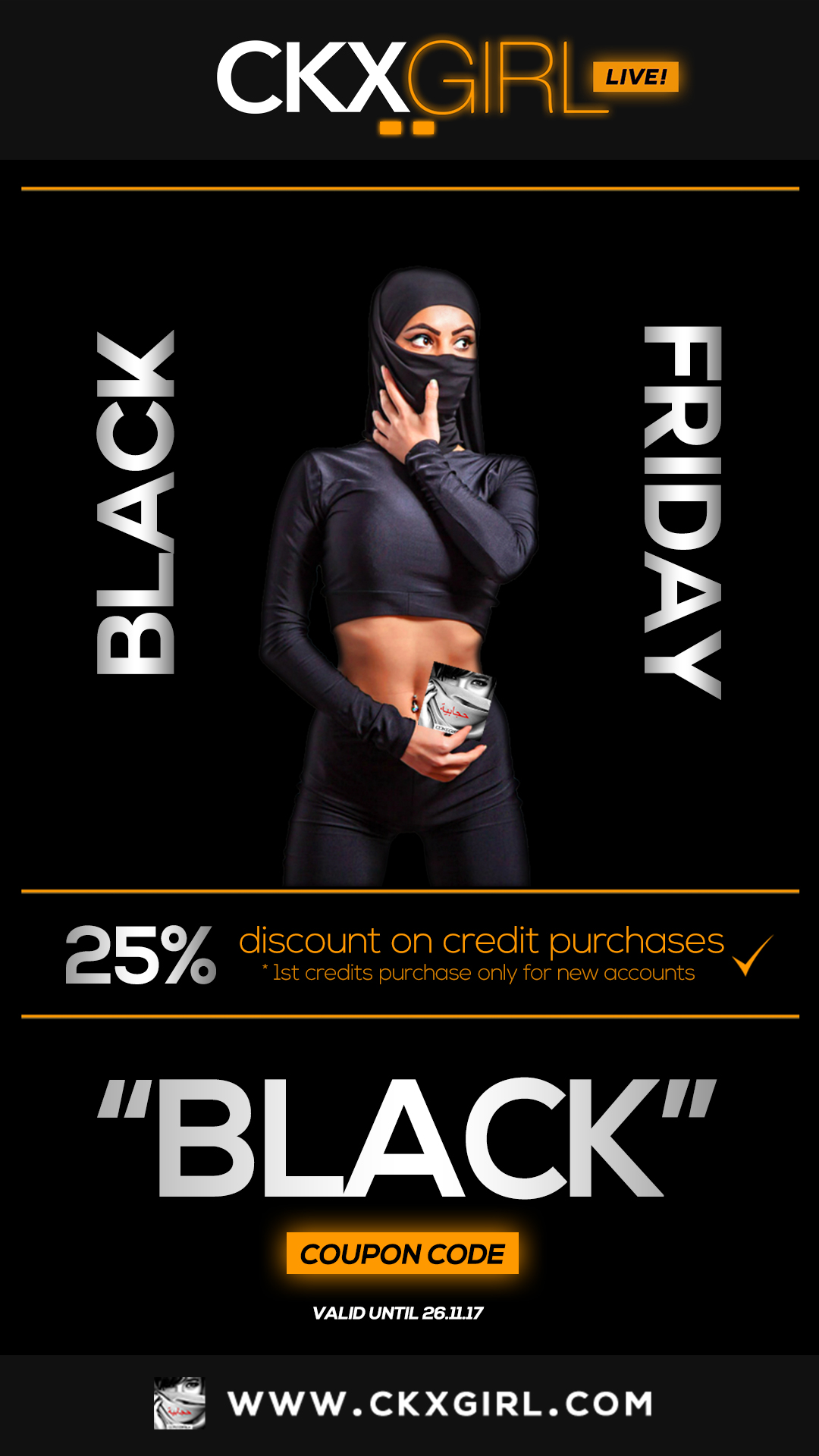 ❤️ Black Friday! ➡ 25% OFF Credit Purchases ✔︎